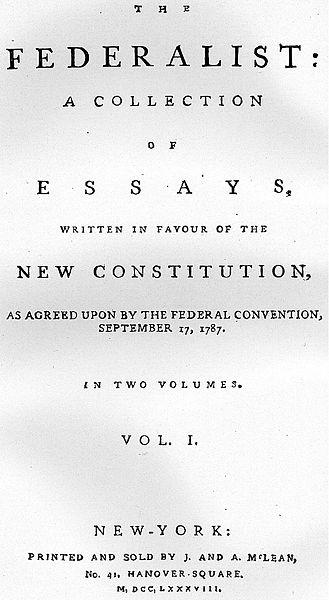 essays about federalists