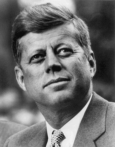 John f. kennedy  white house photo portrait  looking up