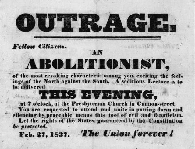 4.3 anti abolitionist handbill