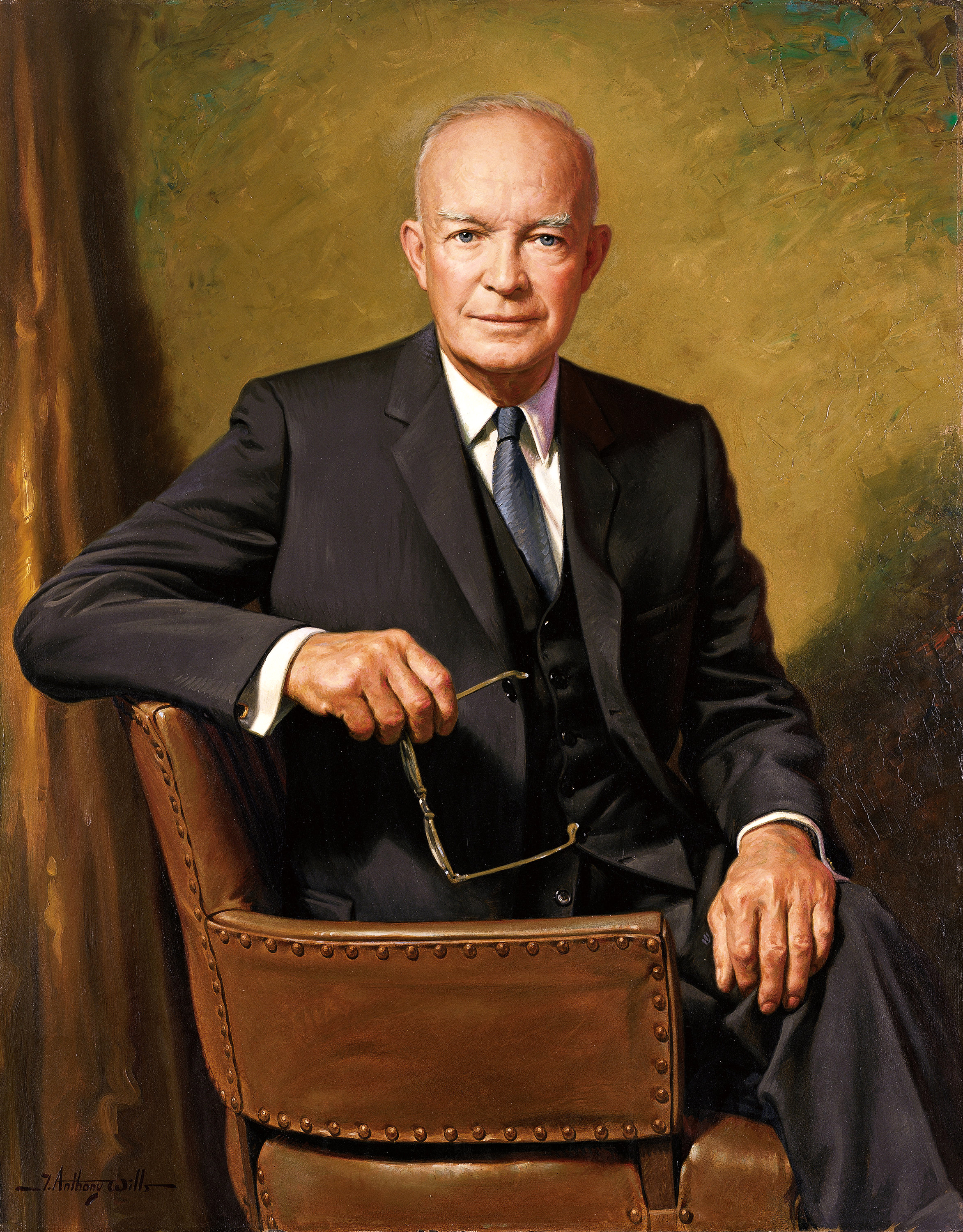 4.1 dwight d eisenhower official presidential portrait