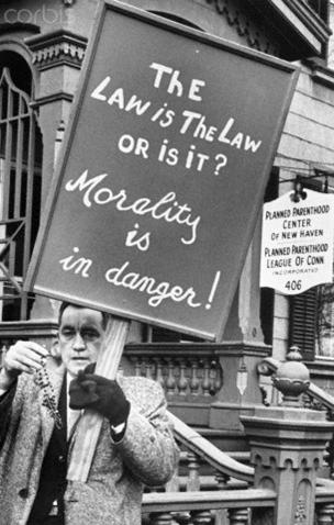 4.7 man pickets outside new haven planned parenthood 1967